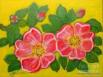 Painting - Happy Flowers by Anna Folkartanna Maciejewska-Dyba