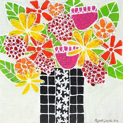 Painting - Happy Flowers by Elizabeth Langreiter