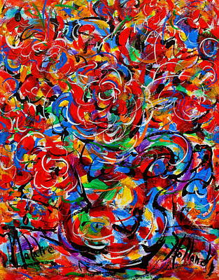 Stil Life Painting - Happy Flowers by Natalie Holland