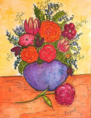 Painting - Happy Flowers by Rae Chichilnitsky