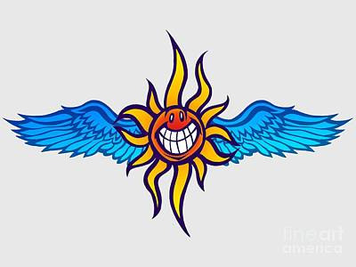 Photograph - Happy Flying Sun by Gregory Dyer