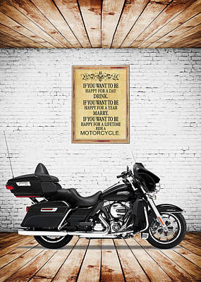 Harley Davidson Photograph - Happy For A Day by Mark Rogan