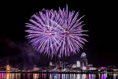 Photograph - Happy Fourth Cincinnati by Keith Allen