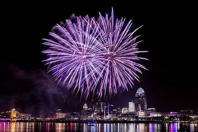 Photograph - Happy Fourth Cincinnati by Keith Allen