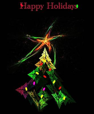 Digital Art - Happy Fractal Holidays by David Lane