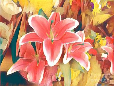 Photograph - Happy Garden - Lillies by Miriam Danar