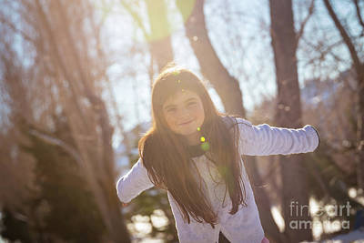 Photograph - Happy Girl Outdoors by Anna Om