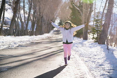 Photograph - Happy Girl Running by Anna Om