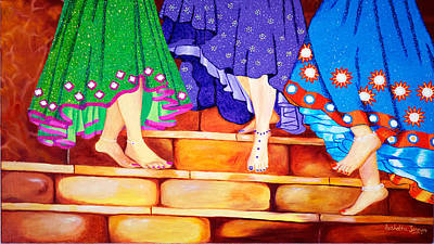 Indian Cultural Painting - Happy Go Lucky by Sushobha Jenner