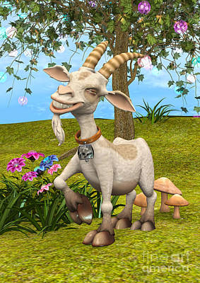 Digital Art - Happy Goat by Design Windmill