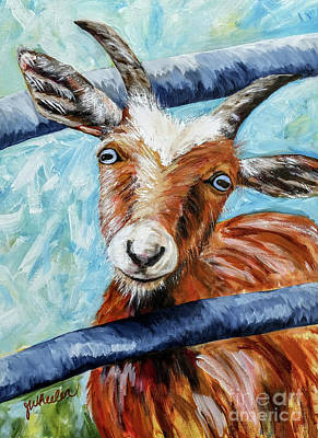 Painting - Happy Goat by JoAnn Wheeler