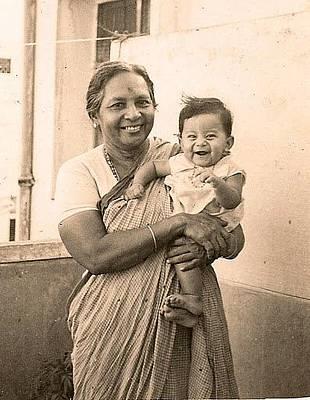 Photograph - Happy Granny And Grandson by Asha Sudhaker Shenoy