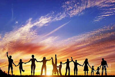 Friendship Photograph - Happy Group Of Diverse People by Michal Bednarek