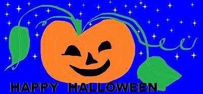 Happy Halloween 1 Art Print by Linda Velasquez