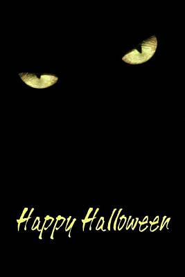 Photograph - Happy Halloween Card by Angie Tirado