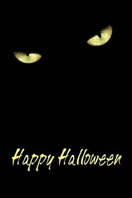 Photograph - Happy Halloween Card by Angie Tirado