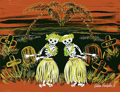 Painting - Happy Halloween Dance by Debbie Chamberlin