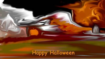 Digital Art - Happy Halloween by David Lane