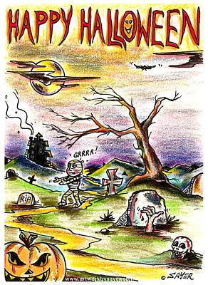 Happy Halloween Art Print by James Sayer