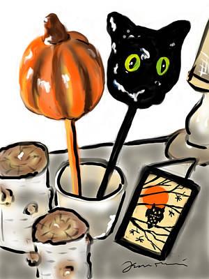 Painting - Happy Halloween by Jean Pacheco Ravinski