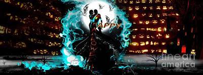 Couple Mixed Media - Happy Halloween by LDS Dya