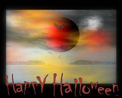 Happy Halloween Print by Linda Galok