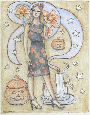 Painting - Happy Halloween by Pamela Weisberg