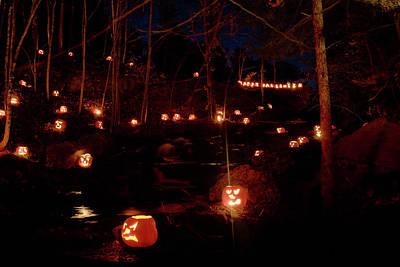 Photograph - Happy Halloween Pumpkin Glow by Jeff Folger