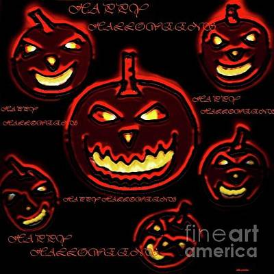 Digital Art - Happy Halloween's by Latha Gokuldas Panicker