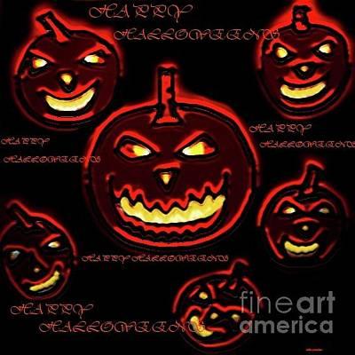 Digital Art - Happy Halloween's by Latha Gokuldas Panicker