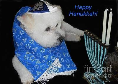 Photograph - Happy Hanukkah by Barbie Corbett-Newmin