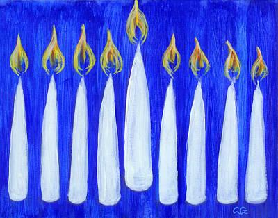Happy Hanukkah Art Print by BlondeRoots Productions