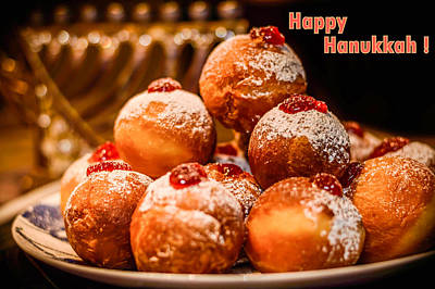Chanukkah Photograph - Happy Hanukkah by Irena Kazatsker