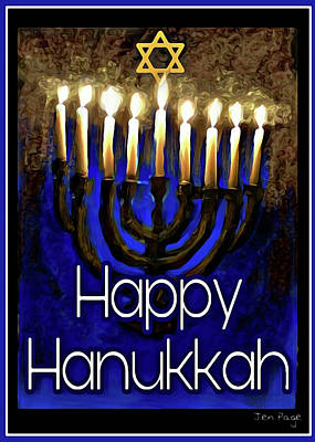 Digital Art - Happy Hanukkah by Jennifer Page