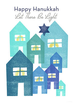 Mixed Media - Happy Hanukkah Light - Art By Linda Woods by Linda Woods