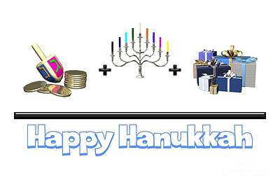 Digital Art - Happy Hanukkah by Methune Hively