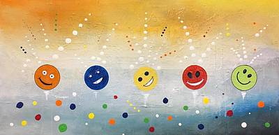 Happy Happy Joy Joy Art Print by Germaine Fine Art