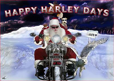 Happy Harley Days Art Print