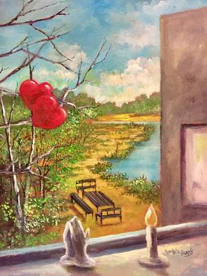 Painting - Happy Hearts by Randy Burns