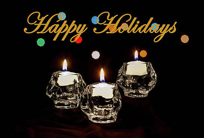 Art Print featuring the photograph Happy Holiday Candles by Ed Clark