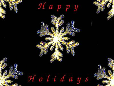 Photograph - Happy Holiday Snowflakes by Tim Allen