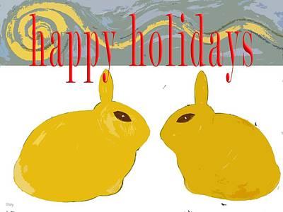 Wildlife Landscape Painting - Happy Holidays 112 by Patrick J Murphy