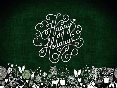 Digital Art - Happy Holidays 2 by Erika H