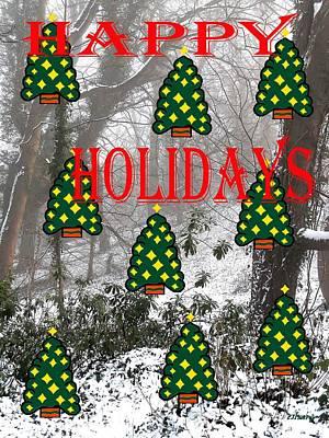 Happy Holidays 29 Art Print by Patrick J Murphy