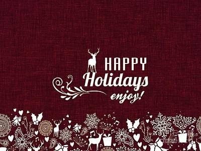 Digital Art - Happy Holidays 3 by Erika H