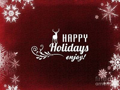 Digital Art - Happy Holidays 4 by Erika H