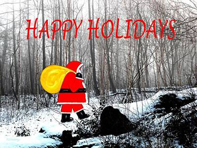 Christmas Eve Painting - Happy Holidays 45 by Patrick J Murphy