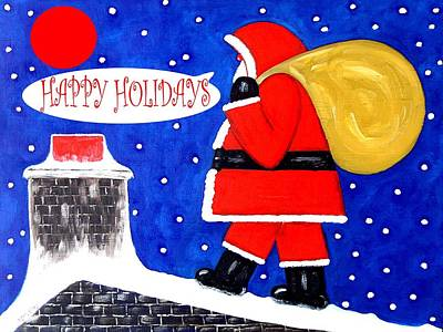 Christmas Eve Painting - Happy Holidays 54 by Patrick J Murphy