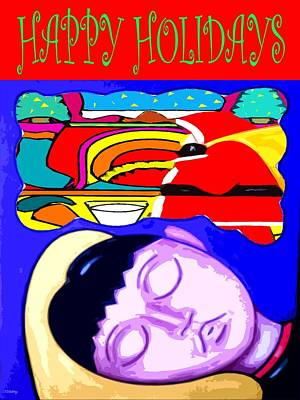 Christmas Eve Painting - Happy Holidays 67 by Patrick J Murphy