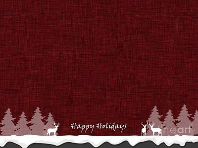 Digital Art - Happy Holidays 7 by Erika H